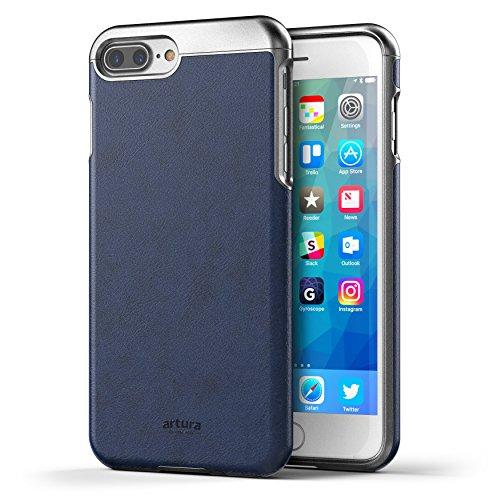 "iPhone 7 Plus (5.5"") Premium Vegan Leather Case - Artura Collection By Encased (Jet Black) Oxford"