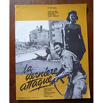 Dossier de presse de La dernière attaque (1961) – 48x31cm - Film de Leopoldo Savona avec Jack Palance, Giovanna Ralli – Photos N&B + résumé scénario – Bon état.