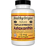 Healthy Origins, Natural, la fuerza de triple Astaxanthin - 12mg x60caps