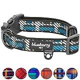 Blueberry Pet Halsbänder 2cm M Schottische Charleston Regiment Streifen Designer Gepolstertes Hundehalsband