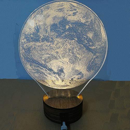 SMAQZ 3D Lampe Dekoration Lampe - Mond Lampe, Led Nachtlicht, Erde B, Warmweißes Licht - 1-licht Outdoor-aufhänger