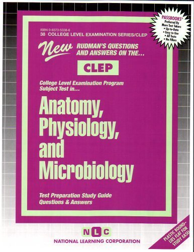 ANATOMY, PHYSIOLOGY, AND MICROBIOLOGY (College Level Examination Series) (Passbooks) (COLLEGE LEVEL EXAMINATION SERIES (CLEP)) by Jack Rudman (2013) Plastic Comb