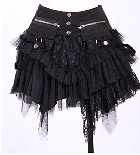 ittelalter LARP Rock Amelia black (Larp Kostüm Zu Machen)