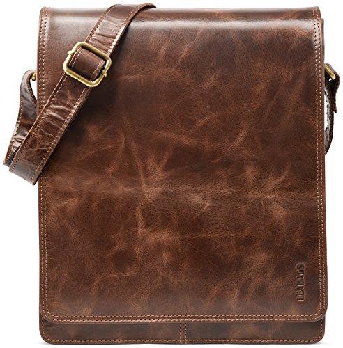 Leabags london borsa a tracolla vintage in vera pelle di bufalo - crazyvinkat
