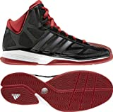 adidas Pro Model 0 II, Chaussures de Basketball Homme - - Black/Red and White,
