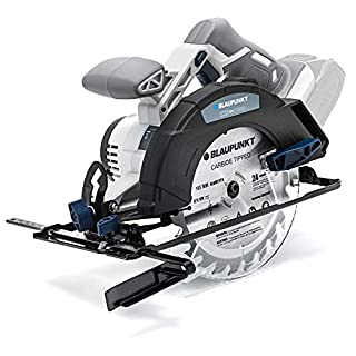 Blaupunkt Power Tools Cordless DNA Circular Saw - Li-Ion 18V - 165mm Blade - Adjustable Depth and Angle Settings - (Bare Tool Only - No Battery Included)