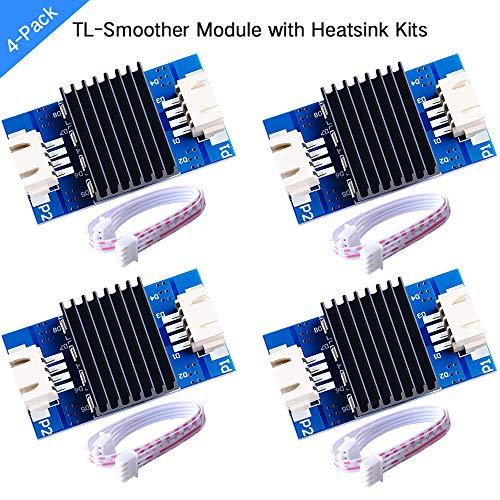 GeeekPi Packung mit 4 TL-Smoother Modules mit Kühlkörper und Doppeldraht für die Beseitigung von Mustern Motorfilter Clipping-Filter 3D-Drucker Motortreiber Controller Terminator