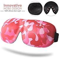 Augenmaske für Schlafen, Unimi Fashion Camouflage Schlafmaske Damen & Herren, blockiert Licht vollständig, 3D-Augen-Abdeckung... preisvergleich bei billige-tabletten.eu