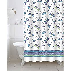Freelance Value for Money Polyester Bath Shower Bathroom Curtain with 12 hooks, Waterproof, 180 (Width) x 200 (Height) cm