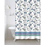 Freelance Polyester Bath Shower Bathroom Curtain With 12 Hooks, Waterproof, 180 (Width) X 200 (Height) Cm
