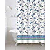 Freelance Polyester Bath Shower Bathroom Curtain With 12 Hooks, Waterproof, 180 (Width) X 200 (Height) Cm