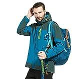 ZKOO Imperméable Respirant Veste de Ski Hommes Sport Randonnée Camping Sports Hiver Veste Jacket Automne et Hiver Bleu