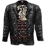 Spiral, maglietta integrale da uomo in stile gotico,a maniche lunghe, nera  Black Small