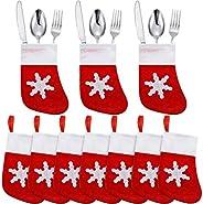 20 حزمة عيد الميلاد ديكورات الطاولة حامل أدوات المائدة عيد الميلاد الجوارب ديكورات مصغرة جوارب عيد الميلاد سكي