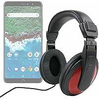 DURAGADGET Auriculares De Diadema para Smartphone BQ Aquaris X2, BQ Aquaris X2 Pro - Negro