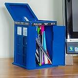 Porta oggetti per scrivania, a forma di Tardis di Doctor Who