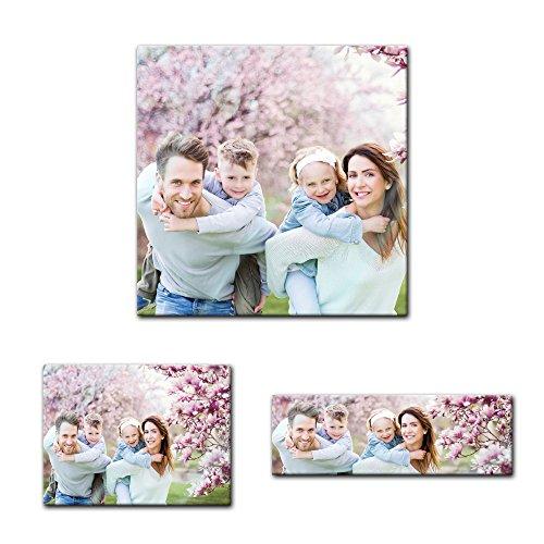 Bilderdepot24 Eigenes Bild auf Glas - Personalisierbar mit Ihrem Wunschmotiv - 50x50 cm - Glasbild - Dein Wunschmotiv als Glasfoto - einzigartige Geschenkidee, mit Ihrem eigenem Foto