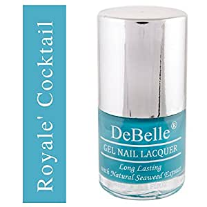 DeBelle Gel Nail Lacquer Royale'Cocktail - 8 ml (Turquoise Blue Nail Polish)