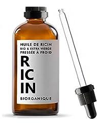 Huile de Ricin 100% Bio, Pure et Naturelle - 100 ml - Soin pour Cheveux, Cils, Ongles, Peau.
