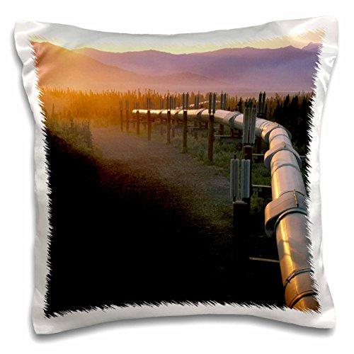 Danita Delimont - Alaska - Alaska, Brooks Range, Trans-Alaska Oil Pipeline - US02 HRO0053 - Hugh Rose - 16x16 inch Pillow Case (pc_87503_1) (Brooks Range Trans-alaska-pipeline)
