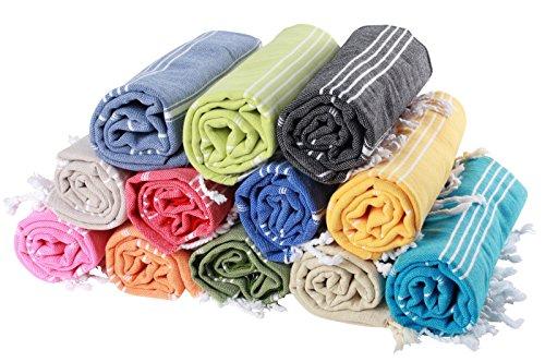 (30 Farben) Hamamtuch Pestemal 100% Baumwolle 100 x 180 cm, Pestemal   Saunatuch   Badetuch   Strandtuch   Handtuch   Backpacker   Fouta   Saunakilt   Strandtuch (Lavendel, Unbestickt) (Lavendel Handtuch)
