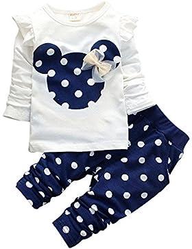 ZAMME Mädchen Baumwolle Langarm Mantel + keucht 2pcs Kostüme Kleidung Set