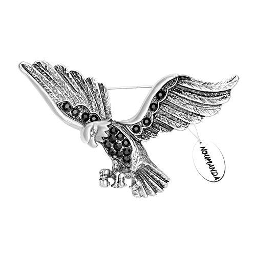 NOUMANDA Vintage Soaring Eagle Brooch Pin