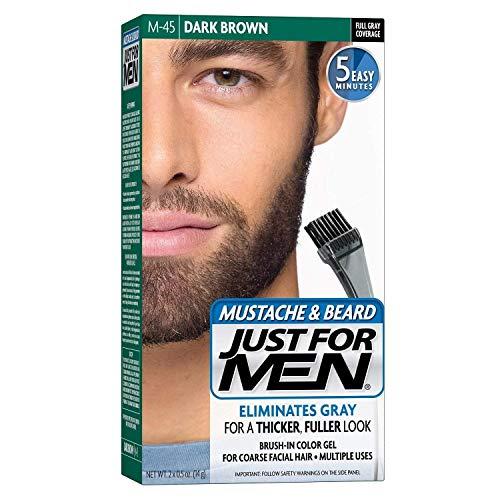 Just for Men Brush in Color Gelformel Bart Und Schnurrbart, schwarzbraun, 3er Pack (3 x 28.4 g)