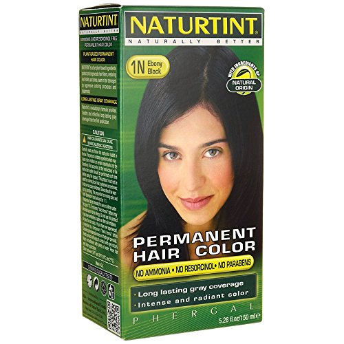 Permanent Hair Color - 1N Ebony Black 1 Kit by Naturtint