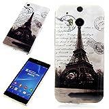 Handy Lux® Schutz Hülle Etui Silikon TPU Case Cover Design Motiv für Wiko Bloom - Eiffelturm SW
