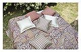 Funzionalità foulards coperta » camelia « la marca ZUCCHI gebluemte Optik in polvere Rose goesse V1: 180x 270cm in 100% cotone