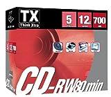 TX Think Xtra CD-RW 80 700MB - Confezione da 5