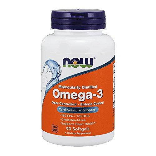 Now Foods Molec-distilled Omega-3 Soft-gels, 90-Count