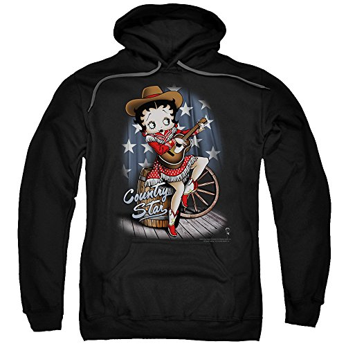Betty 1930s Boop Cartoon American Icon Country Star Adult Pull-Over Hoodie