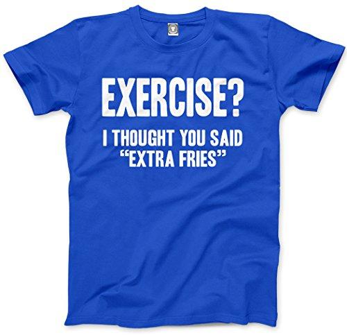Esercizio? Thought You Said Extra Patatine fritte, T-shirt per bambini e ragazzi Blue Età 12/13 - 91.44 cm