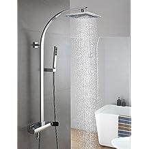 *-* baño montado en la pared latón las precipitaciones grifo de la ducha columna de ducha