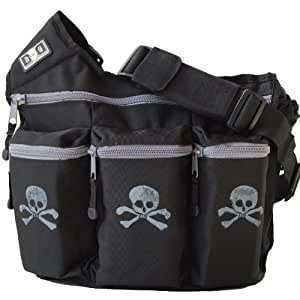 Diaper Dude Bag Skull and Cross Bone (Black)