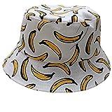 ACVIP Unisex Fischerhut Outdoor Wild Bucket Hat Causal Schlapphut für Herren Damen(Bananen)