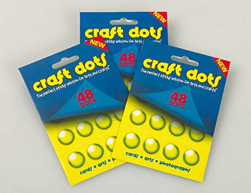 Craft dots – 48 Permanent transparent Glue Dots auf Perforierte Blätter