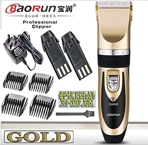 Excellent clippers. Light weight, very quiet, easy to clean. Would highly recomend. Packaging not up to much. Would be happy to pay more if it came with a pouch. Comes with 2nd battery.