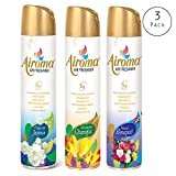 #2: Airoma Air Freshener (Pack of 3) Long Lasting Fragrance Odor Eliminator Spray Home Room Bathroom-Assorted