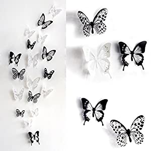 SwirlColor 36 x 3D Schmetterlings-Kristall Dekor-Wand-Aufkleber-Dekor-Wandtattoos