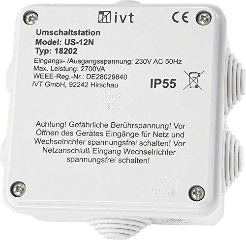 IVT Umschaltstation US-12N 2760 VA 18202 130 mm x 130 mm x 60 mm Passend für Modell (Wechselrichter):Universal