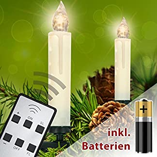 Homelux-LED-Weihnachtskerzen-Christbaumbeleuchtung-Warmwei-Fernbedienung-Kabellos-mit-Batterien-10203040er-Set-DEUTSCHER-HNDLER