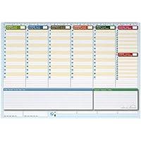 Planner settimanale da scrivania 42x30 - agenda planner da tavolo perpetua - World Planner
