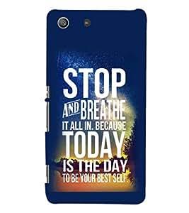 PRINTSHOPPII QUOTES Back Case Cover for Sony Xperia M5 Dual E5633 E5643 E5663:: Sony Xperia M5 E5603 E5606 E5653