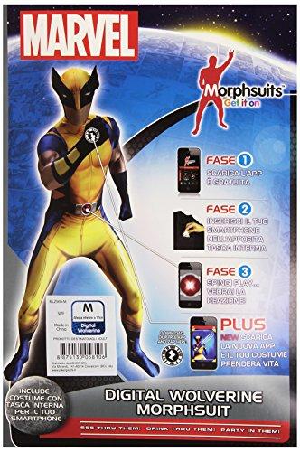 Joker mlzwo-m Marvel Wolverine Kostüm Karnevalskostüm, in Briefumschlag, mehrfarbig