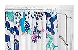 Lasjon Ikea Duschvorhang Wasserdicht/Wasserabweisend–71x 71, Blau/Weiß