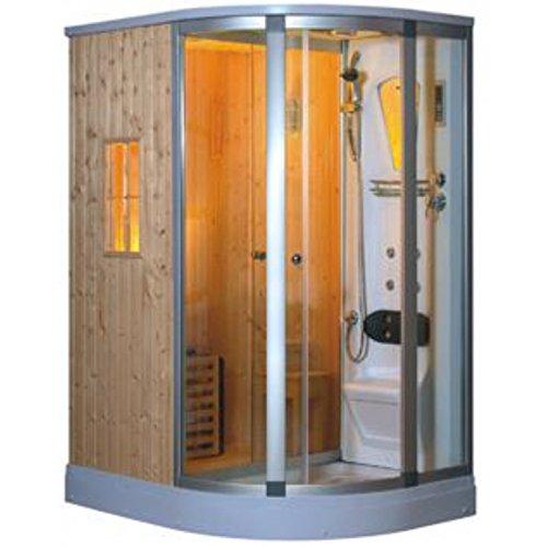 Douche Hydromassante/Sauna Duo - 160*120*220 cm - Angle Gauche