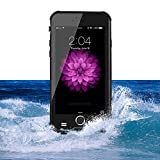 Zakitane Waterproof Case Cover Shell for iPhone 6 6S Full Sealed Protection IP68 6.6ft Shockproof Snow Rain Dirt Dust Proof Ultra Slim Body with Built-in HD Screen Protector for Apple iPhone 6 6S 4.7 inch (Black)